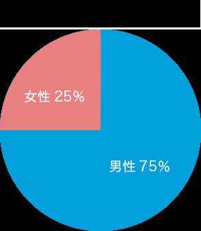 男女比 女性33%・男性67%